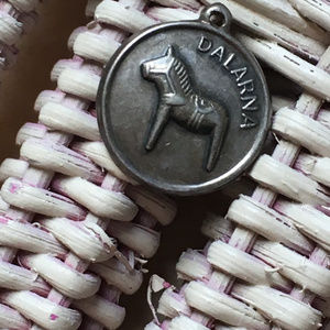 Dalarna Sweden Horse Sterling Silver Charm